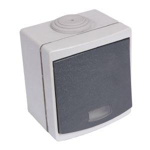 debflex bouton poussoir tanche ip55 avec voyant distriartisan. Black Bedroom Furniture Sets. Home Design Ideas