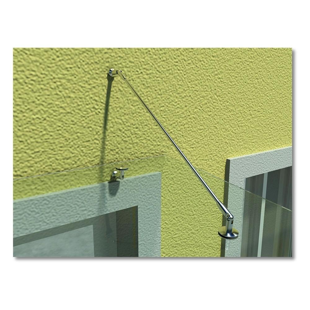 monmobilierdesign auvent de porte 120 x 90 cm terrasse marquise verre s curit transparent. Black Bedroom Furniture Sets. Home Design Ideas
