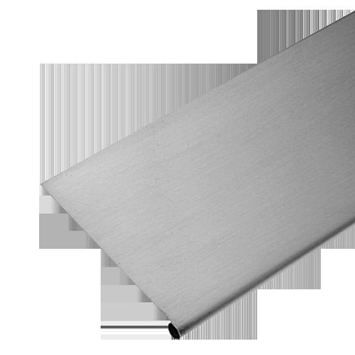 Distriartisan zinc bande de doublis zinc naturel 2 m for Luminaire exterieur zinc