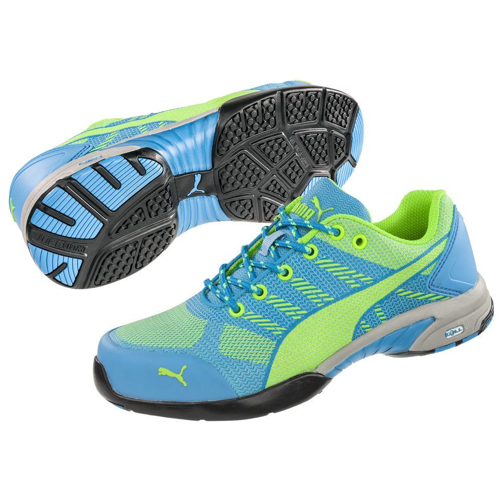 Baskets de sécurité femmes S1P HRO SRC Celerity Knit Blue Puma bleues EbEI1mlS