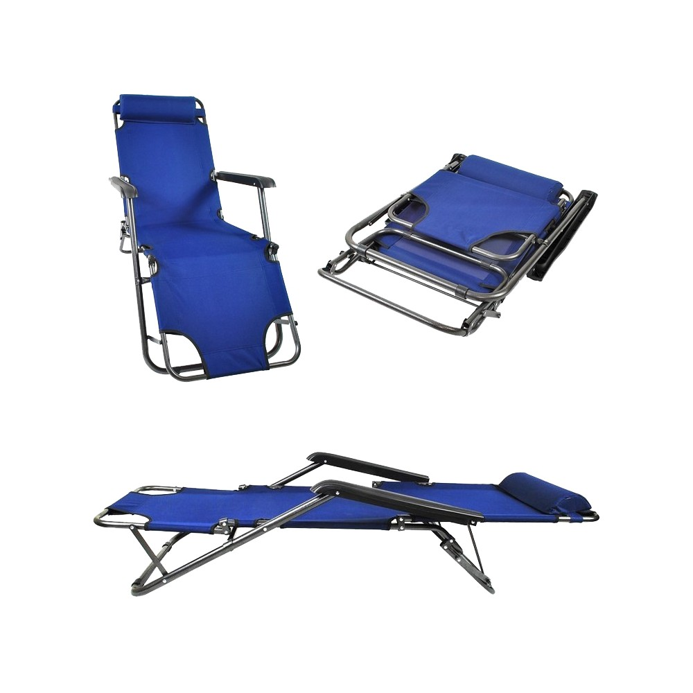 transat chaise longue jardin plage 3 positions bleu marine distriartisan. Black Bedroom Furniture Sets. Home Design Ideas