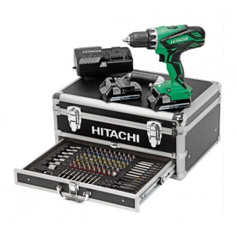 Perceuse visseuse HITACHI - HIKOKI 18V 2.5Ah + 2 batteries, chargeur en coffret - KC18DJLF
