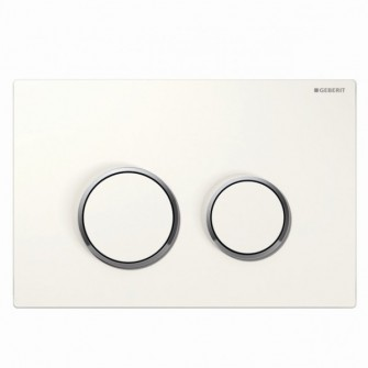 Plaque de commande Sigma 20 Geberit blanc-chrome-brillant