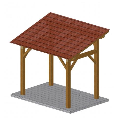 Charpente Bois Diffusion - Abri de jardin ossature bois monopente ...