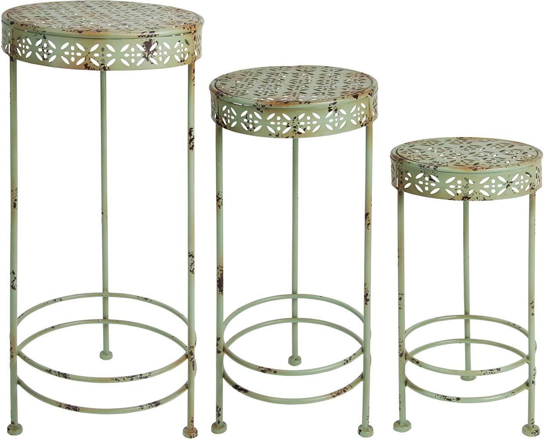 Tables à plantes rétro (lot de 3)