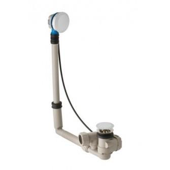 Vidage automatique Geberit Uniflex chromé brillant avec set de finition pour baignoire standard ø 52
