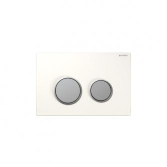 Plaque de commande Sigma 20 Geberit blanc-chrome-mat