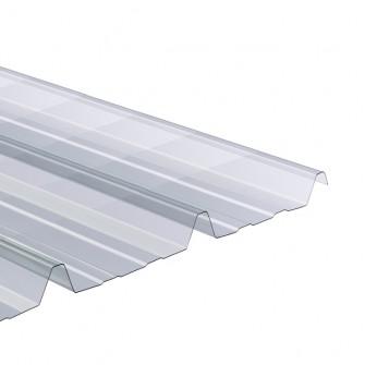 Onduline plaque ondul e transparente polycarbonate 2 x 1 10 m ondes trap ze gr ca 76 18 - Plaque toiture transparente ...