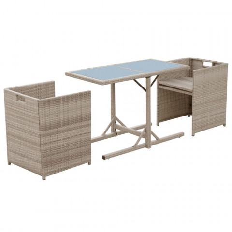 vidaXL - Vidaxl ensemble de mobilier de jardin 7 pcs poly rotin gris ...