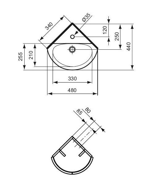 ideal standard lave mains d 39 angle connect arc 34 x 44 cm distriartisan. Black Bedroom Furniture Sets. Home Design Ideas