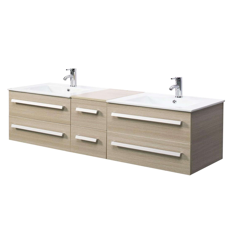 Import diffusion ensemble complet meuble salle de bain for Meubles salle de bain 2 vasques
