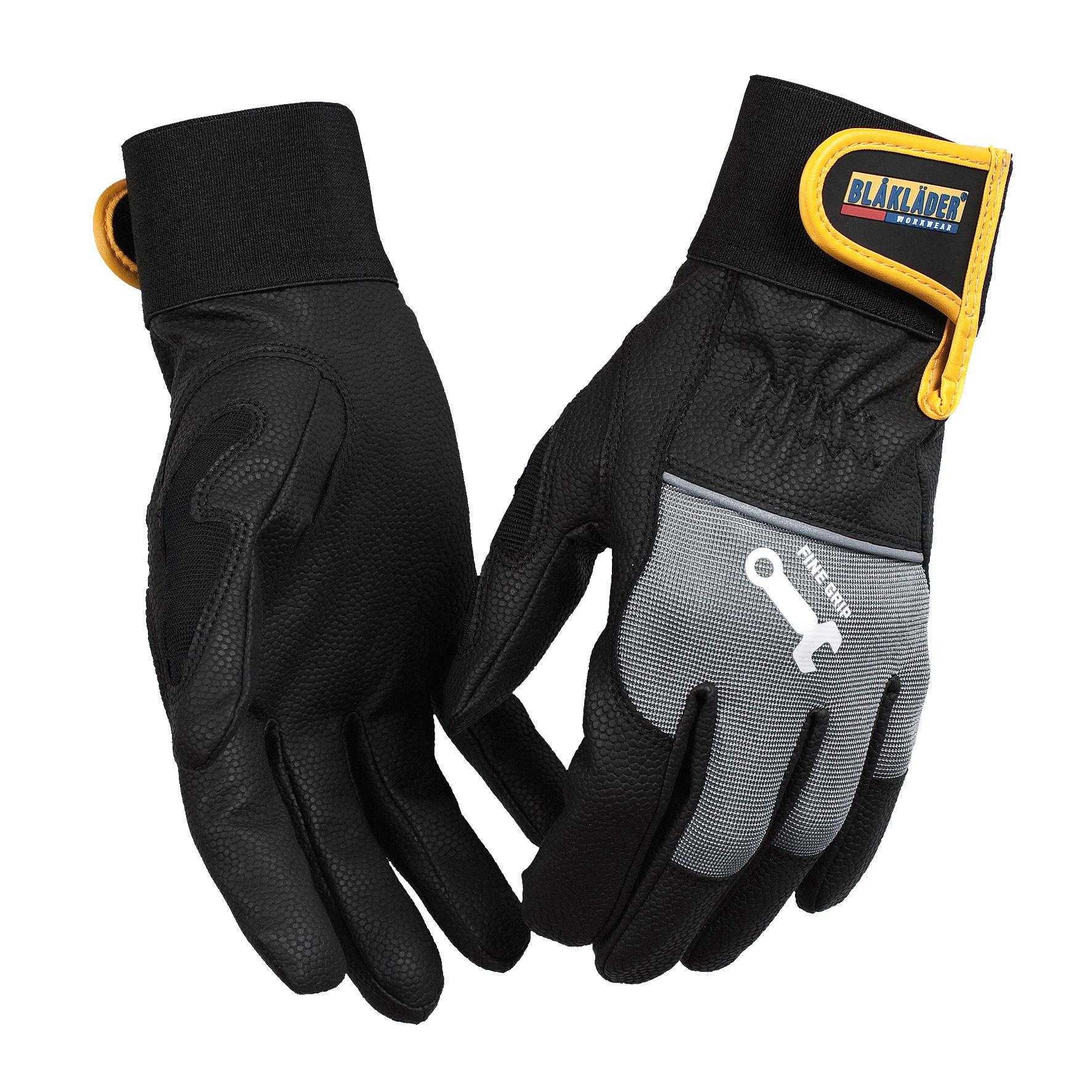 blaklader gants de montage fine grip noir gris distriartisan. Black Bedroom Furniture Sets. Home Design Ideas
