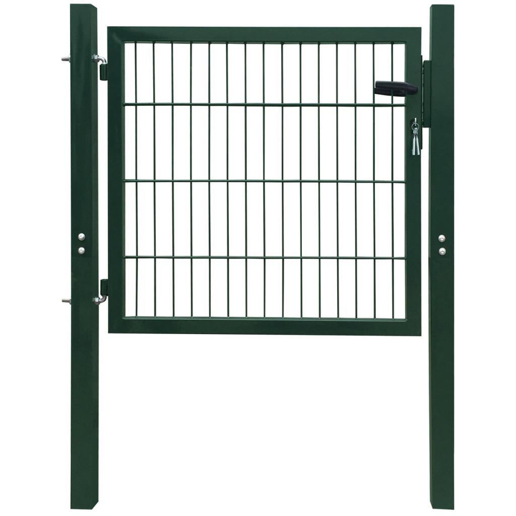 Vidaxl Portillon 106 X 150 Cm Acier Vert