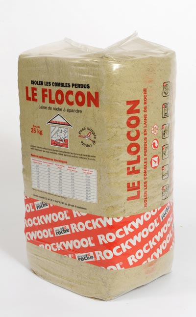 rockwool laine de roche en flocon le flocon 2 pour l. Black Bedroom Furniture Sets. Home Design Ideas