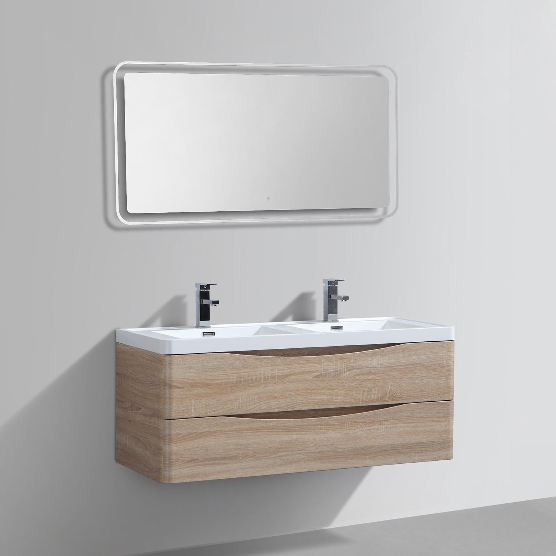 Meuble Salle De Bains Double Vasque Miroir Led Smile Distriartisan