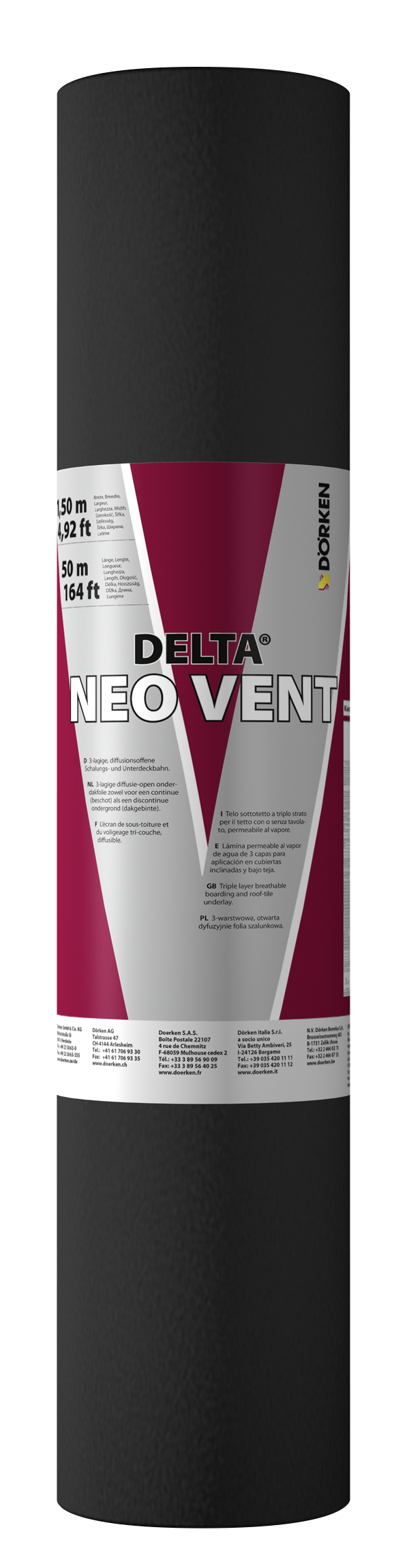 doerken ecran de sous toiture delta neo vent hpv r2 50 ml x 1 5 ml distriartisan. Black Bedroom Furniture Sets. Home Design Ideas