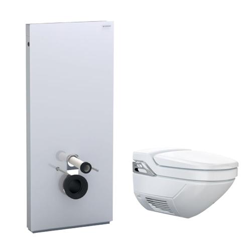 geberit panneau wc monolith avec pack wc suspendu aquaclean 8000plus distriartisan. Black Bedroom Furniture Sets. Home Design Ideas