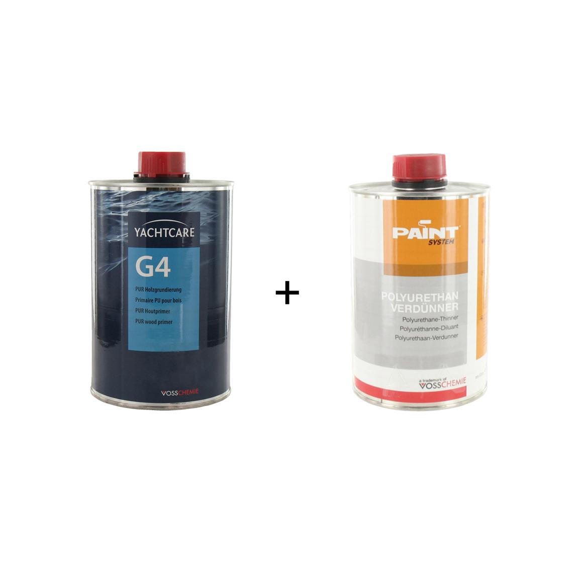 pack vernis primaire d'accrochage g4 yachtcare 1l - diluant pour