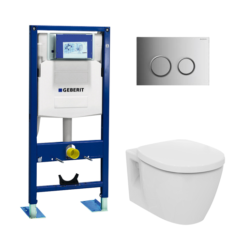 Geberit pack wc suspendu ideal standard autoportant 3 - Pack toilette suspendu ...
