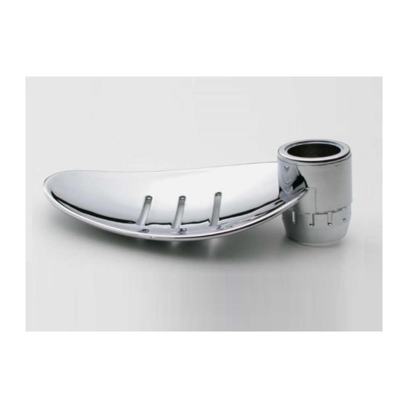 Disflex Porte Savon Feuille Chromée Pour Barre De Douche Diamètre - Porte savon pour douche