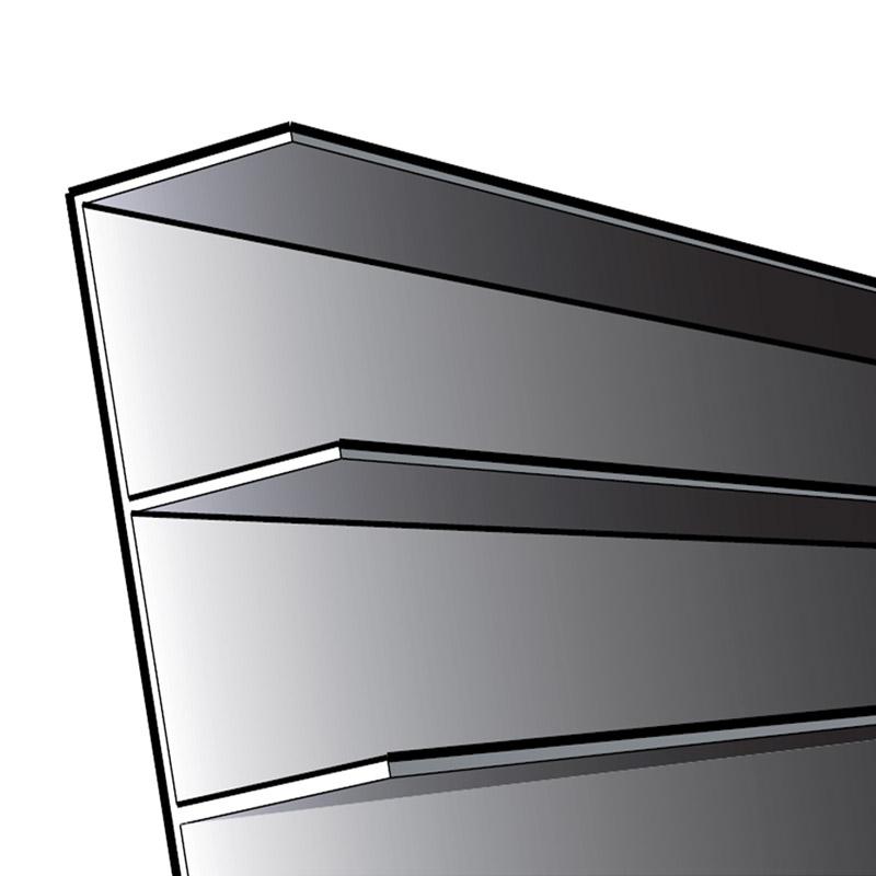 cedral profil de ventilation c dral board en pvc noir 3 m tres distriartisan. Black Bedroom Furniture Sets. Home Design Ideas