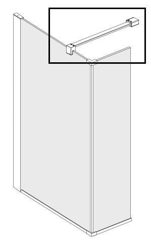 Ideal standard barre de fixation pour paroi de douche distriartisan - Fixation barre de douche ...