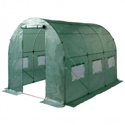 Ose - Serre de jardin 6 m² avec bâche renforcée - vert - Distriartisan