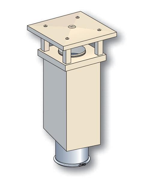 Poujoulat sortie de toit tradinov carr e tcp cr pi ocre for Poujoulat sortie de toit