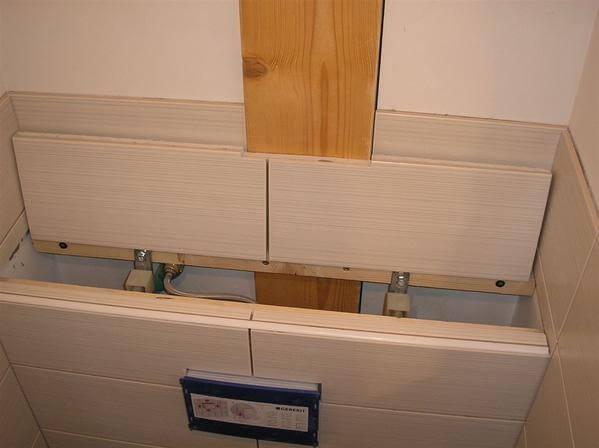 WC suspendu avec trappe