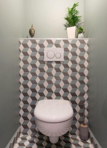toilettes graphique