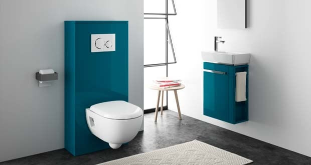 wc suspendu style contemporain
