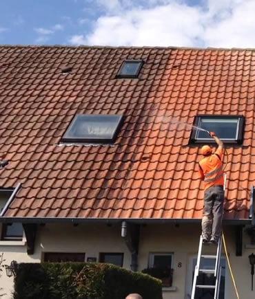 nettoyage toiture harnais sécurité